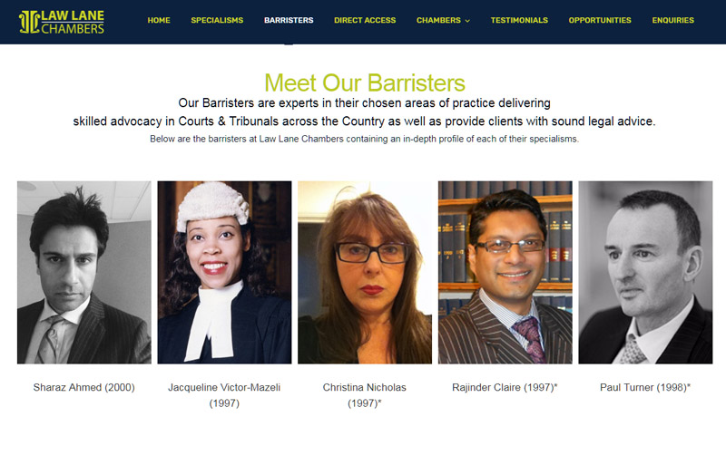 Barristers Page